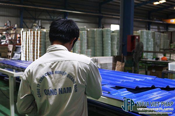 Xưởng Tôn nhựa 4 lớp ASA/PVC Việt Pháp