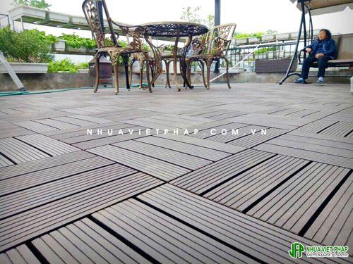 Sàn gỗ ngoài trời , gỗ nhựa việt pháp