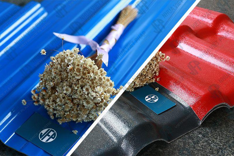 Sản phẩm ngói nhựa và tôn lợp nhựa4 lớp ASA/PVC Việt Pháp