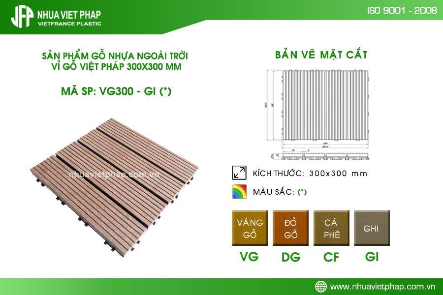 Phân phối vỉ gỗ lát sàn của Nhựa Việt Pháp khắp cả nước