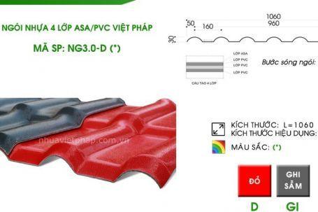 Ngói nhựa 4 lớp ASA/PVC Nhựa Việt Pháp – Thêm một lựa chọn hợp lý cho người sử dụng