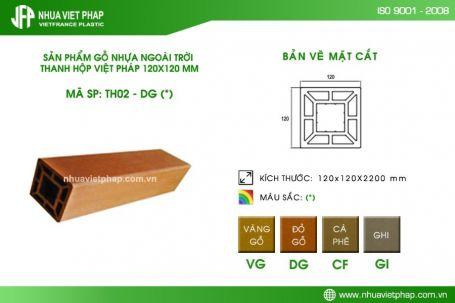 Thanh hộp gỗ nhựa Việt Pháp TH02