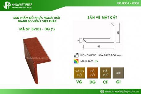 Thanh gỗ nhựa ngoài trời Việt Pháp BVL 01