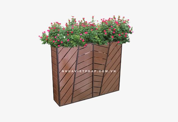 Bồn hoa gỗ nhựa Nhựa Việt Pháp