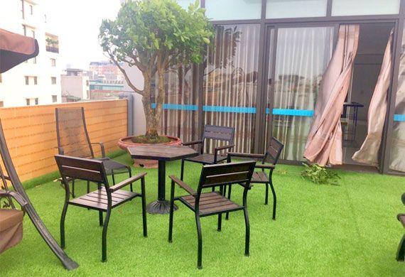 Bàn ghế cà phê ngoài trời Nhựa Việt Pháp