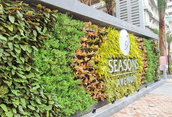 Modul vườn tường đứng Nhựa Việt Pháp