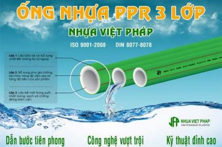Ống nhựa PPR 3 lớp Nhựa Việt Pháp – Dẫn bước tiên phong