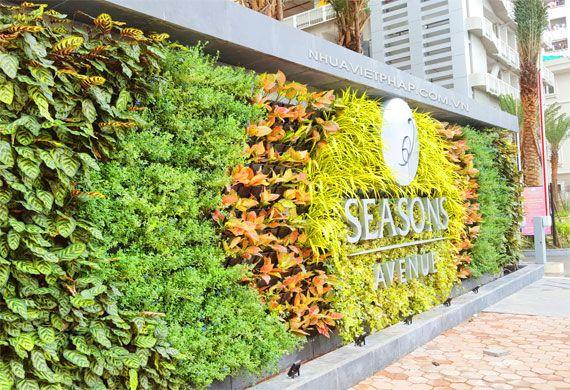 Không gian xanh với vườn tường đứng Nhựa Việt Pháp