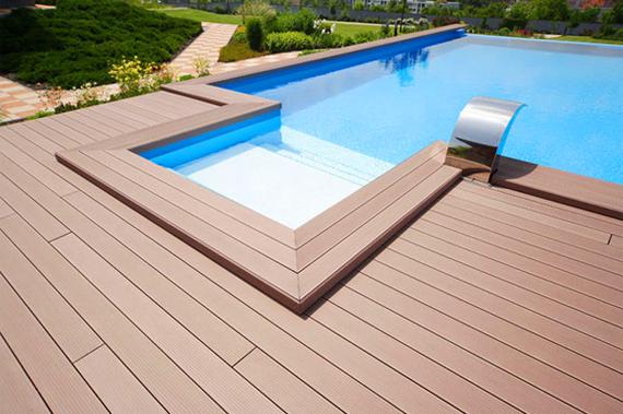 Một số mẫu sàn gỗ bể bơi – Nhựa Việt Pháp
