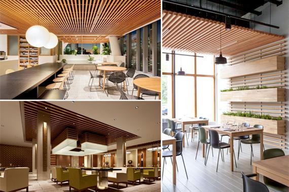 Trang trí nhà hàng, tiệm cafe bằng gỗ nhựa sinh thái WPVC – Nhựa Việt Pháp