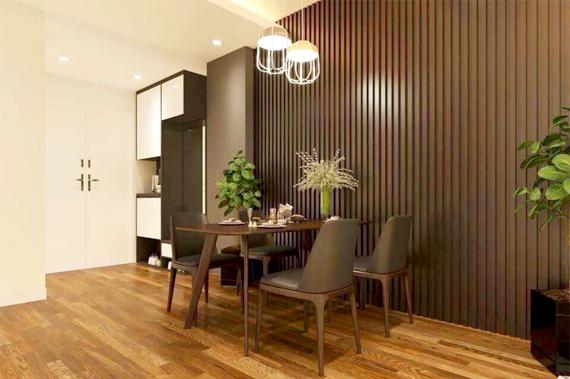 Trang trí phòng khách bằng gỗ nhựa sinh thái WPVC – Nhựa Việt Pháp