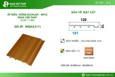 Gỗ nhựa sinh thái Ecoplast – WPVC loại 1 cấp