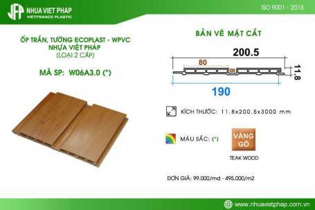 Gỗ nhựa sinh thái Ecoplast – WPVC loại 2 cấp