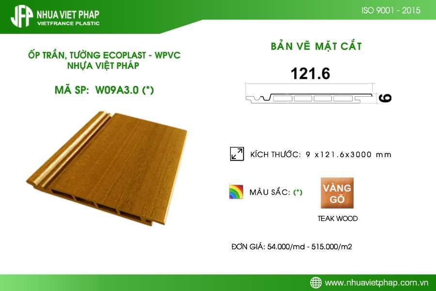 Tấm ốp trần, ốp tường Ecoplast – WPVC W09