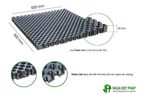 Vỉ thoát nước toàn phần Plastic Cell 500x500mm