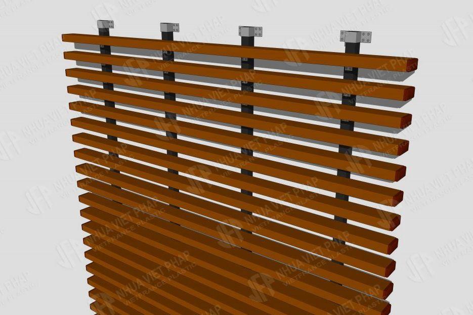Hướng dẫn thi công hệ lam gỗ nhựa ngoài trời