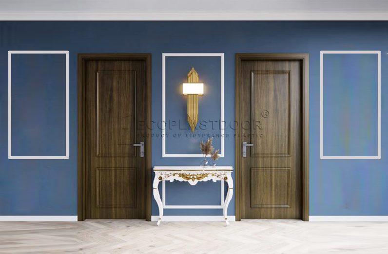 Cửa gỗ nhựa Ecoplast Door phong cách tân cổ điển