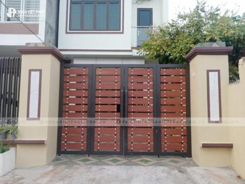 Cổng gỗ nhựa, cổng gỗ biệt thự